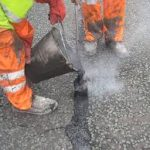 asphalt repairs worksite picture